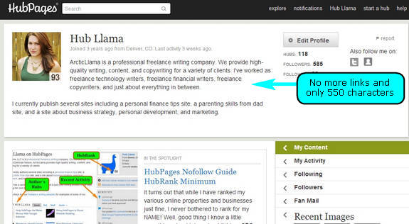 HubPages Removes Links from Profiles