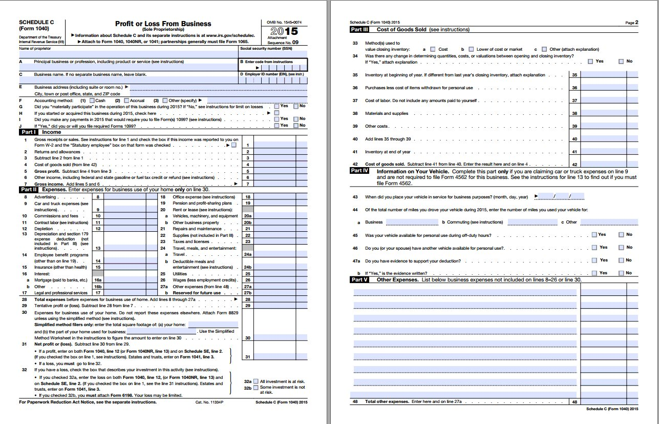2016 schedule c Complete Do It Yourself Freelance Taxes Guide - Taxes - ArcticLlama.com